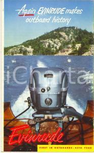 1975 ca NAUTICA Motoscafi EVINRUDE *Opuscolo turistico ILLUSTRATO