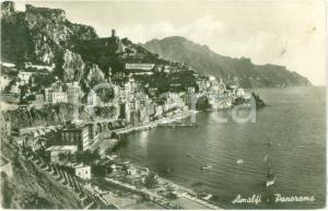 1938 AMALFI (SA) Panorama del golfo con barca a vela *Cartolina FP NV