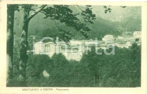 1929 BIELLA Panorama del Santuario d'OROPA *Cartolina postale FP VG