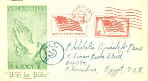1960 PHILATELIC CRUSADERS FOR PEACE Pray for Peace *Cartolina postale FG VG