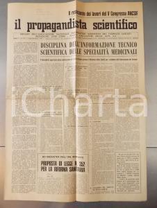 1972 IL PROPAGANDISTA SCIENTIFICO Lavori del V congresso ANCSIF *Giornale