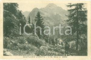 1926 BIELLA Escursionista al Santuario d'OROPA *Cartolina FP VG