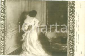1914 PARIS SALON Gaston LA TOUCHE L'étreinte *Cartolina postale FP NV