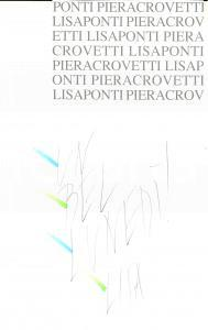 1980 ca ARTE LISA PONTI Un BEL LUNEDì Disegno ORIGINALE con invito