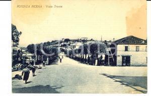 1951 POTENZA PICENA (MC) Veduta di viale TRIESTE *Cartolina postale ANIMATA FG