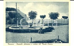 1950 ca NUMANA (AN) Piazzale ADRIATICO e Monte CONERO *ANIMATA con bambini