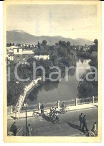 1956 SACILE Panorama dal PONTE DELLA VITTORIA *Cartolina ANIMATA DANNEGGIATA