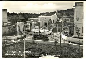 1970 ca ISOLA DI SANTO STEFANO (LT) Terrazzo Sala Convegno *Cartolina postale FG