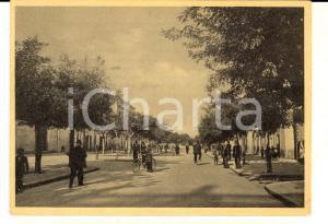 1949 SAN SEVERO (FG) Corso Garibaldi *Cartolina ANIMATISSIMA bici FG VG