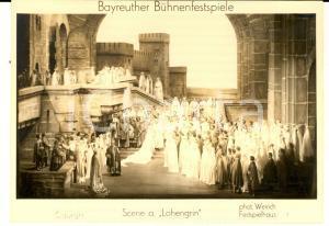 1940 ca BAYREUTH FESTIVAL Una scena del LOHENGRIN  - Cartolina postale FG NV
