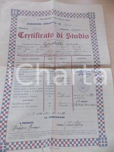 1942 PRIOCCA (CN) Certificato di studio Antonietta GARABELLO - Ciclo inferiore