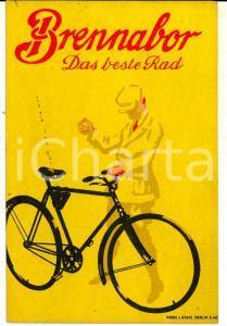 1942 BERLIN Biciclette BERNANOR Da beste Rad *Cartoncino pubblicitario 10x15 cm
