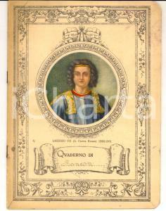 1931 Quaderno scuola ELEMENTARE Antonia RONZON - Esercizi di scrittura