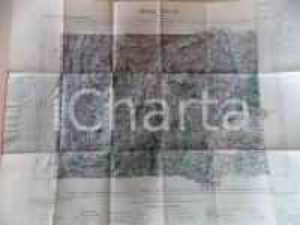 1891 PRIVAS (FRANCE) Carte à 1:100.000 55x45 cm Librairie HACHETTE