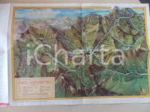 1940 ca CONCA DI BARDONECCHIA Diorama e itinerari *TURISMO VINTAGE