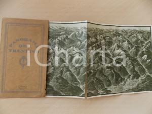 1920 ca Panorama del TRENTINO Mappa 80x70 cm ed. MOSER BOLZANO