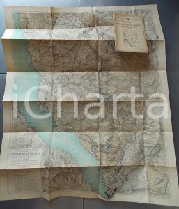 1930 ca TCI Carta zone turistiche d'Italia - GRUPPO DELLE GRIGNE Mappa 70x90 cm