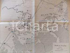 1950 ca GUERRA RUSSO-GIAPPONESE Battaglia di LIAOYANG *Mappa militare 50x45
