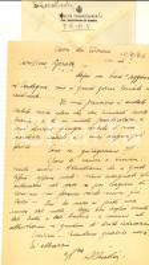 1944 WW2 CAVA DEI TIRRENI Ten. Orazio CHIODINI pensa a un raduno *Lettera