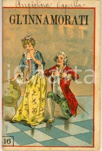 1890 ca TEATRO Carlo GOLDONI Gl'innamorati *Ed. Giovanni GUSSONI MILANO