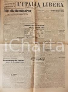 1945 L'ITALIA LIBERA Gino MESCHIARI arrestato a Roma *Giornale PARTITO D'AZIONE