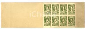 1939 FIERA MILANO Libretto francobolli chiudilettera 40 ERINNOFILI *RARO