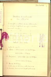 1920 ca MILANO Politecnico *Silvio SACCHETTO Progetto ponte ferroviario 49 pp.