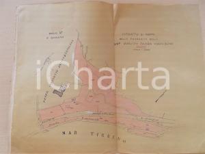 1930 ca BUSSANA (IM) Proprietà di Zaveria MAGLIONI BONDI *Planimetria 40x30 cm