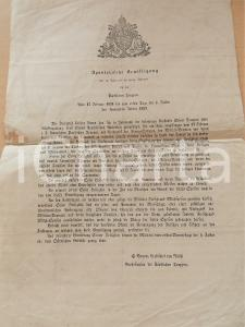 1859 PAPSTLICHEN TRUPPEN Apostolische Bewilligung *Manifesto 26x38 cm