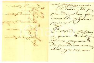 1800 ca ANONIMO Ricetta del dottor POLA per il singhiozzo cronico *Manoscritto