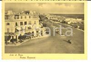 1952 OSTIA (RM) Piazza RAVENNATI e Gran Caffè MIRAMAR *Cartolina FG VG auto