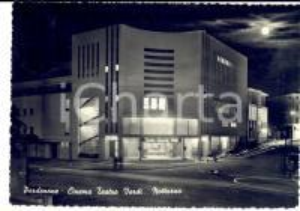1954 PORDENONE Notturno al Cinema Teatro VERDI *Cartolina FG VG