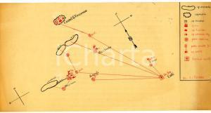 1944 WW2 Schieramento 51^ Sezione SANITA' a CASTEL SAN VINCENZO *Mappa