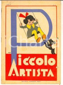1940 MILANO IL PICCOLO ARTISTA Quaderno da colorare *Ed. CARROCCIO DANNEGGIATO