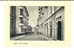 1950 ca POTENZA Veduta di corso 18 AGOSTO *Cartolina ANIMATA auto FG