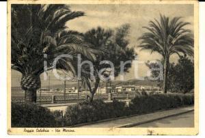 1947 REGGIO CALABRIA Veduta di Via Marina *Cartolina FG VG