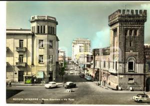 1962 NOCERA INFERIORE (SA) Piazza Guerritore e via Roma *Cartolina ANIMATA auto