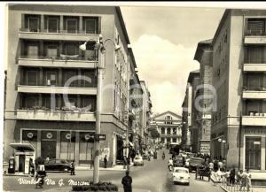 1961 VITERBO Veduta di via MARCONI *Cartolina ANIMATA auto FG VG