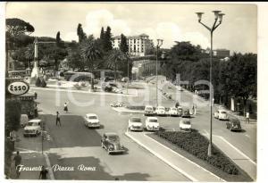 1962 FRASCATI (RM) Veduta di piazza ROMA *Cartolina ANIMATA Pubblicità ESSO FG
