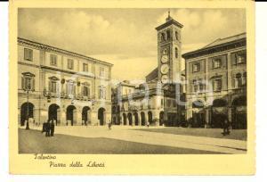 1953 TOLENTINO (MC) Piazza della Libertà *Cartolina ANIMATA FG VG