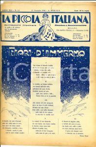 1940 LA PICCOLA ITALIANA Fiori d'inverno - Donnine di casa *Rivista anno XIII 14