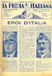 1941 LA PICCOLA ITALIANA Eroi d'Italia: Piero MALETTI Achille BERGONZOLI Rivista