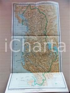 1939 Regno di ALBANIA unito al Regno d'Italia *Carta geografica PANORAMA 25x45