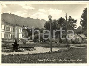 1953 PORTO VALTRAVAGLIA (VA) I giardini sul lungolago *Cartolina FG VG