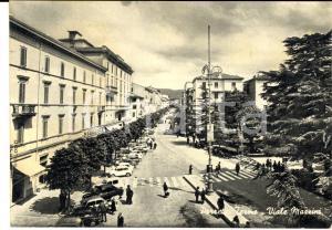 1967 PORRETTA TERME (BO) Veduta di viale MAZZINI *Cartolina postale FG VG