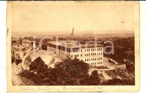 1950 ca MONTEPULCIANO (SI) Veduta con edificio scolastico *Cartolina postale FG
