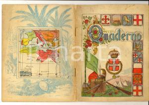 1916 Quaderno Ermanno GEROSA Tedesco - Copertina COLONIE ITALIANE