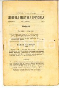 1933 GIORNALE MILITARE UFFICIALE Ammissione accademie militari - Dispensa 18^