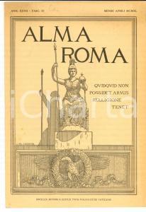1940 ALMA ROMA Morte di don Luigi ORIONE *Rivista in latino anno XXVII fasc. IV