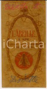 1930 ca L'ABEILLE Assicurazioni sulla vita *Custodia pubblicitaria pergamena